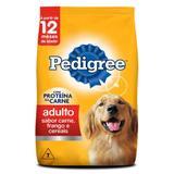Ração para Cães Adultos Pedigree Carne, Frango e Cereais