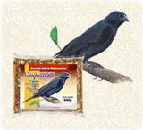 Ração para Pássaros Mistura Triturada para Pássaro Preto e Sabiá Nutripássaros-500g - Nutripassaros