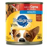 Ração Pedigree Carne ao Molho Lata para Cães Adultos 290 g