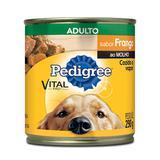 Ração Pedigree Frango ao Molho Lata para Cães Adultos 290 g
