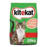 Ração Pedigree Kitkat Para Gatos Sabor Carne e Peixe 20kg