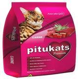 Ração PituKats Premium Carne 25 kg - Pitucats