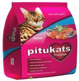 Ração PituKats Premium Peixe 25 kg - Pitucats
