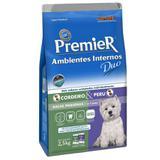 Ração Premier Duo Ambientes Internos para Cães Adultos de Raças Pequenas Sabor Cordeiro e Peru
