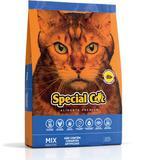 Ração Special Cat Premium Mix de Carne, Frango e Espinafre para Gatos de Todas as Idades - 20KG - Special dog