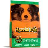 Ração Special Dog Junior Para Cães Filhotes Sabor Vegetais - Special dog - contém carinho