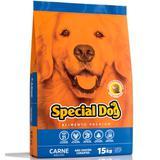 Ração Special Dog Premium Para Cães Adultos Sabor Carne - Special dog - contém carinho