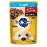 Ração Úmida Pedigree Sachê Sabor Carne Para Cães Filhotes 100g