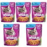 Ração Úmida Pedigree Whiskas Sachê Para Gatos Sabor Atum Kit Com 5 Unidades 85g