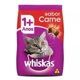 Ração Whiskas Carne para Gatos Adultos - 1 Kg