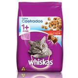 Ração Whiskas Castrado Carne para Gatos Adultos- 3 Kg