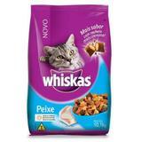 Ração Whiskas Para Gatos Adultos Sabor Peixe - 10,1kg