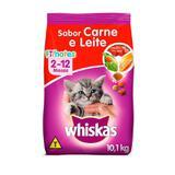 Ração Whiskas para Gatos Filhotes Sabor Carne e Leite