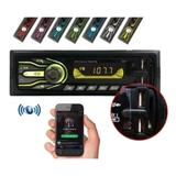 Rádio Automotivo 7 Cores Bluetooth Usb Aux Sd Card Mp3 Player - First Option