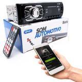 Radio Automotivo Knup KP-C28BH MP3 Player Bluetooth 4X25W RMS USB/ SD/ AUX