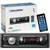 Rádio Automotivo Roadstar Bluetooth USB Sd Auxiliar