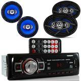 Radio Mp3 Bluetooth + Falante 6 Pol +6X9 55W cada Muda pasta - Orion