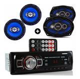 RADIO MP3 USB + falante 6 Pol + 6X9 Orion 55W