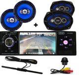 Rádio Mp5 Automotivo Bluetooth + Camera ré tartaruga + Falante 6 pol  + 6x9 55w  + Antena - Orion