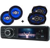 Rádio Mp5 Automotivo Tela 3 pol Bluetooth + par Falante 6 + par 6x9 55w - Orion