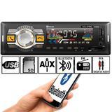 Rádio Som Automotivo Bluetooth Fm mp3 usb sd aux Lançamento Pi0066 - Winnparts