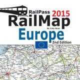 RailPass RailMap Europe 2015 - Solitaire contracts limited
