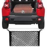 Rede Elástica para Porta Malas SUVs Universal Preta com Ganchos Plásticos - Cargonet