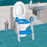 Redutor De Assento Sanitario Com Degrau Azul  Clingo