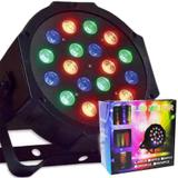 Refletor Canhao 18 Leds Display Digital RGB Mini Strobo Festas Luz Iluminacao Bivolt (Led Mini Par 18 pcs) - Ab midia