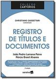 Registro de titulos e documentos - saraiva
