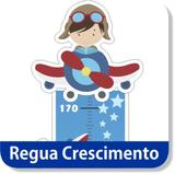 Régua Crescimento Menino Aviador Adesivo Decorativo Aviões - Mundo dos adesivos