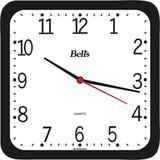 Relógio 21cm Quadrado Econômico Bells Preto