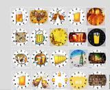 Relogio cerveja chopp bebida decoração cha bar cozinha - Artesanato