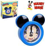 Relogio de mesa / despertador de plastico mickey orelha azul - Etimo