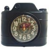 Relógio De Mesa Retrô Câmera Fotográfica - Versare anos dourados