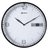 Relógio de Parede 6415 Herweg Branco 30cm Calendário
