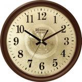 Relógio de parede analógico moderno estilo madeira mecanismo sweep herweg ipê