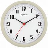Relógio de parede analógico moderno mecanismo step herweg cinza