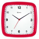 Relógio de parede analógico tradicional mecanismo step herweg vermelho