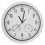 Relógio de Parede c/Termômetro e Higrômetro 30cm Prata - Sottile