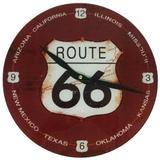 Relógio de Parede de Vidro Design Route 66 - Az design