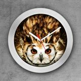 Relógio de parede decorativo, criativo e descolado   Coruja - Colours  creative photo decor
