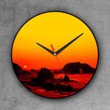 Relógio de parede decorativo, criativo e descolado  Panorâmica de Jericoacoara - Colours  creative photo decor