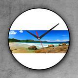 Relógio de parede decorativo, criativo e descolado  Panorâmica de praia - Colours  creative photo decor