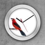 Relógio de parede decorativo, criativo e descolado  Passarinho vermelho - Colours  creative photo decor