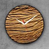 Relógio de parede decorativo, criativo e descolado  Textura de madeira - Colours  creative photo decor