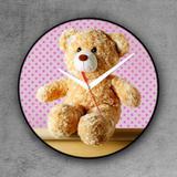 Relógio de parede decorativo, criativo e descolado  Urso de pelúcia Ted - Colours  creative photo decor