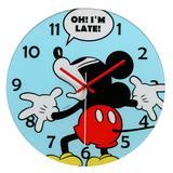 Relógio de Parede Decorativo - Disney - Mickey Mouse - Azul - Mabruk