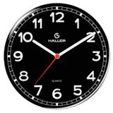 Relógio de Parede Disco New York 5395/02 22cm Preto - Haller