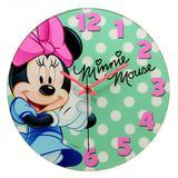 Relógio de Parede Disney Minnie Poá Tiffany 30cm